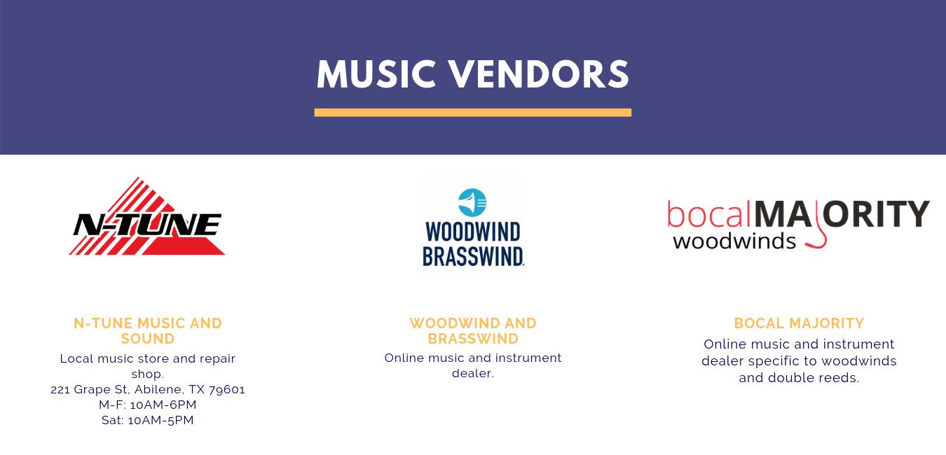Music Vendors